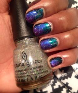 Galaxy Nails courtesy of China Glaze