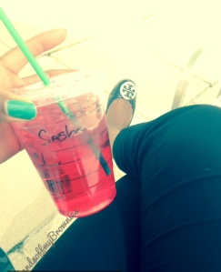 Grande Passion Fruit Iced Tea from Starbucks