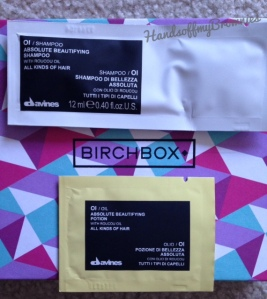 Birchbox Bonus -Davines Oi Shampoo and Oi Oil Absolute Beautifying Potion