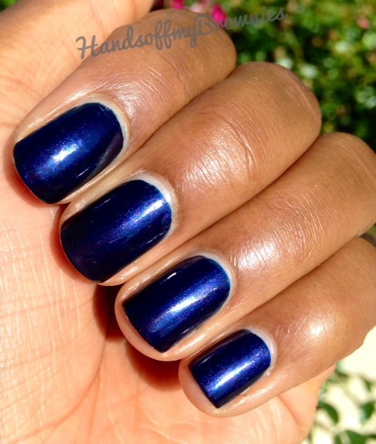 NOTD: September 26, 2014 -OPI Russian Navy   Hands Off My Brownies