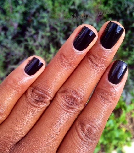 NOTD: OPI Black Onyx | Hands Off My Brownies
